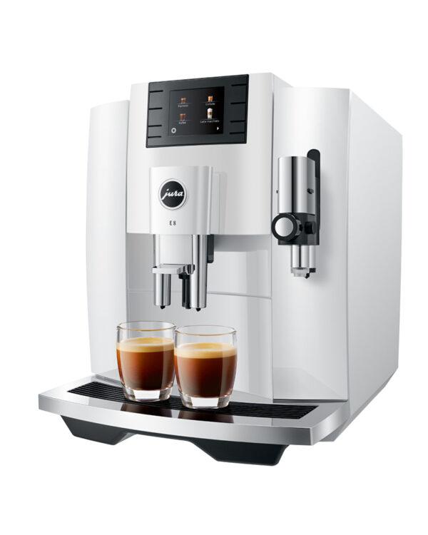 Jura E8 (EB) Piano White Kaffeevollautomat shop