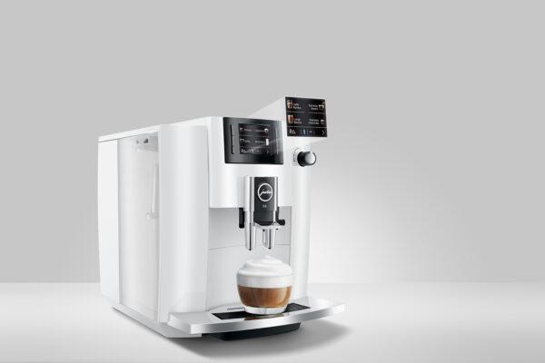 Jura E6 Pianowhite Kaffeevollautomat shop