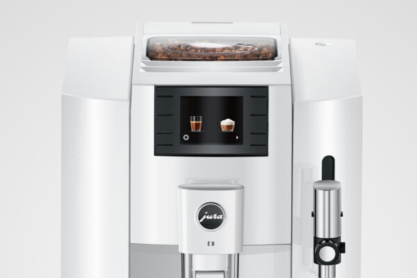 Jura E8 EB Pianowhite Kaffeevollautomat shop